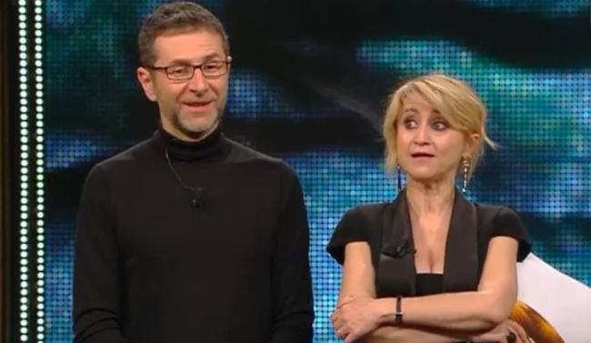 Fabio Fazio e Luciana Littizzetto sul palco di Sanremo 2014