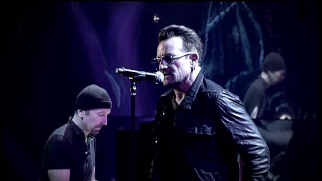 Bono e The Edge degli U2 live a Che tempo che fa 2014