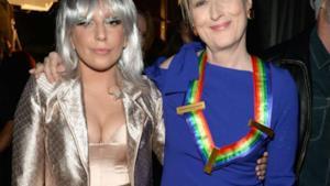 L'attrice Meryl Streep e Lady Gaga