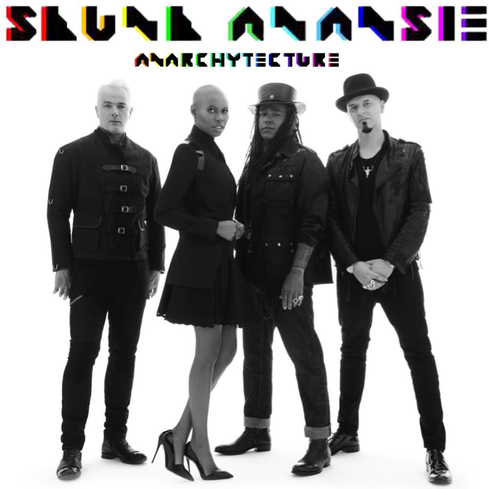 Gli Skunk Anansie al completo sulla copertina di Anarchytechture