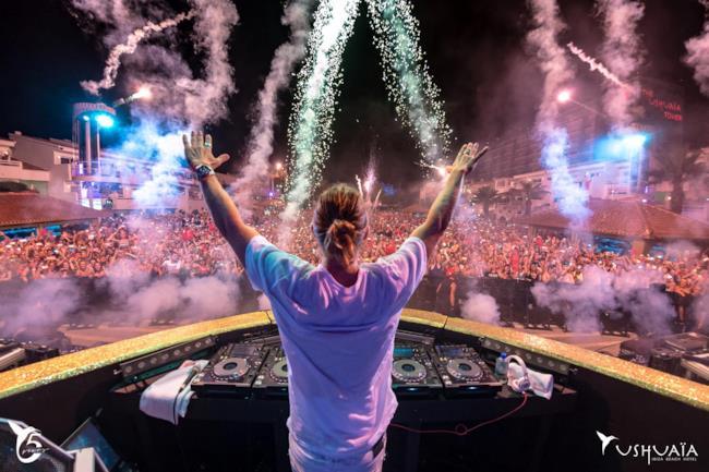 David Guetta all'Ushuaïa di Ibiza