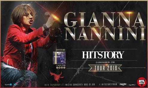 Gianna Nannini sul manifesto di Hitstory Tour 2016