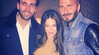 David Beckham con altri due invitati