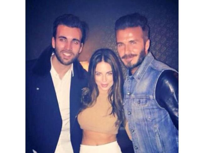 David Beckham con altri due invitati