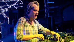Il DJ Avicii dal vivo