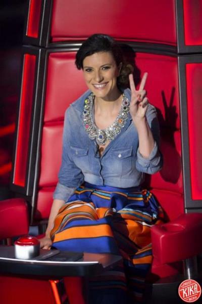 Laura Pausini durante la prima puntata di La Voz Messico
