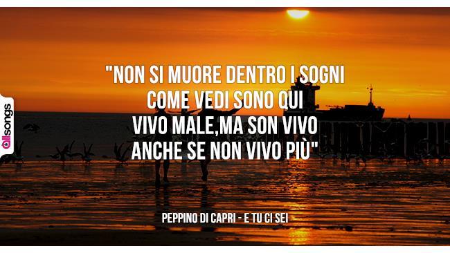 Peppino Di Capri: le migliori frasi dei testi delle canzoni