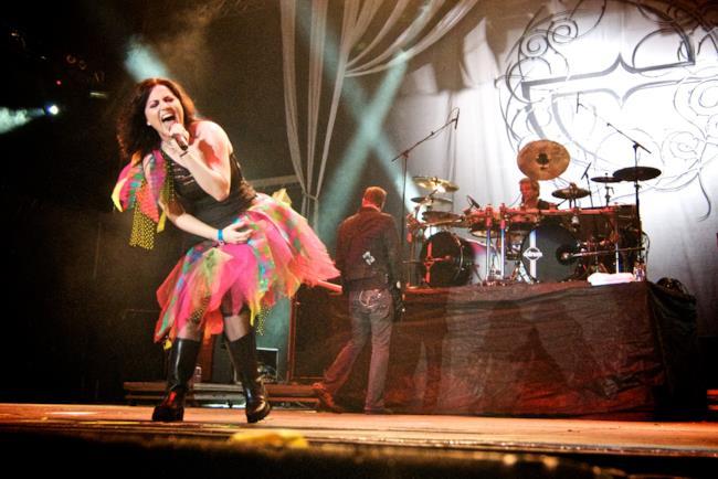 Gli Evanescence in concerto