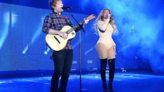 Beyoncé con Ed Sheeran al Global Citizen Festival 2015