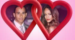 Rihanna, cantante pop delle Barbados e Lewis Hamilton, campione di F1