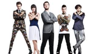 I quattro giudici di X Factor con il conduttore Alessandro Cattelan
