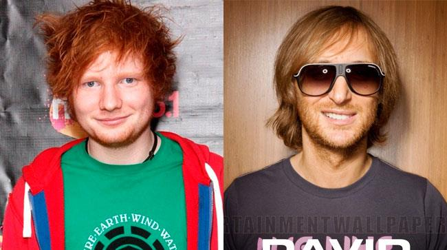 Primo piano di Ed Sheeran e David Guetta