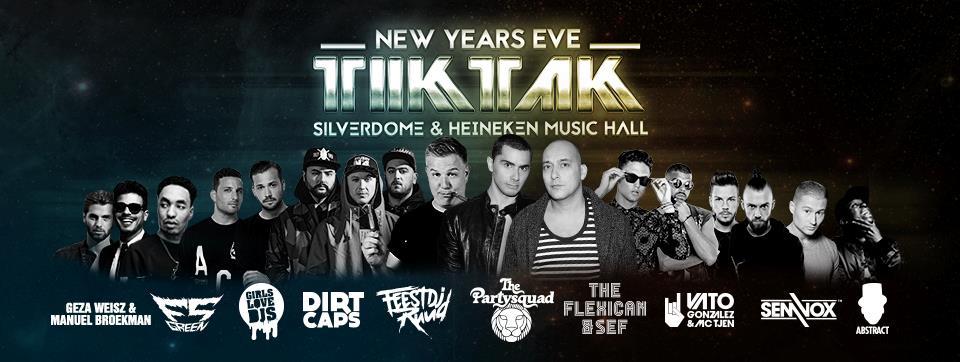 Tik Tak Capodanno tra l'Heineken Music Hall e il Silverdome
