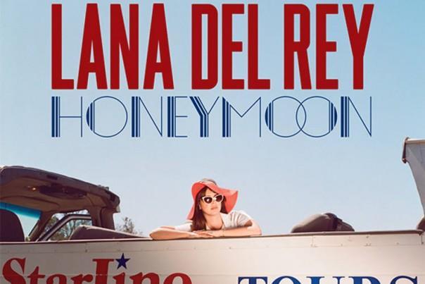 Lana Del Rey sulla copertina dell'album Honeymoon
