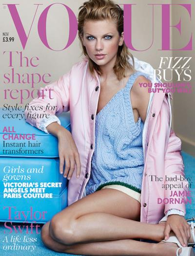 La copertina di Vogue UK con Taylor Swift