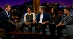 Gli One Direction ospiti da James Corden parlano dell'addio di Zayn