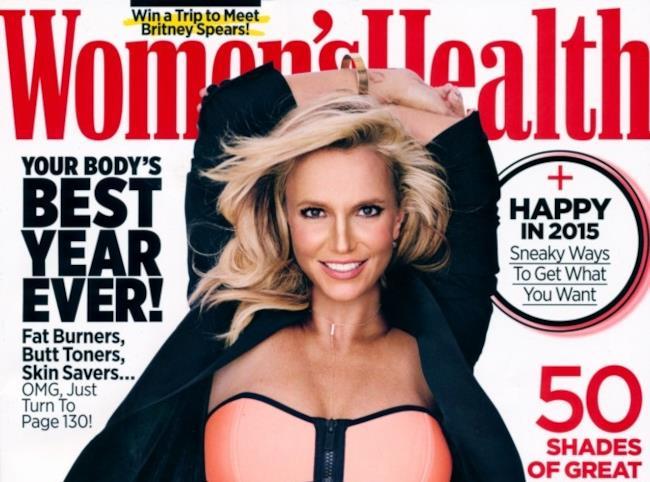 Britney Spears sulla copertina Women's Health gennaio/febbraio 2015