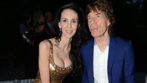 Foto di L'Wren Scott e Mick Jagger insieme