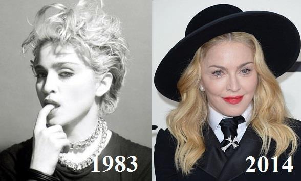 Madonna confronto 1983-2014
