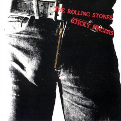 La  copertina dell'album Sticky Fingers dei Rolling Stones