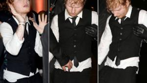 Ed Sheeran completamente ubriaco agli after party dei Brit Awards 2015