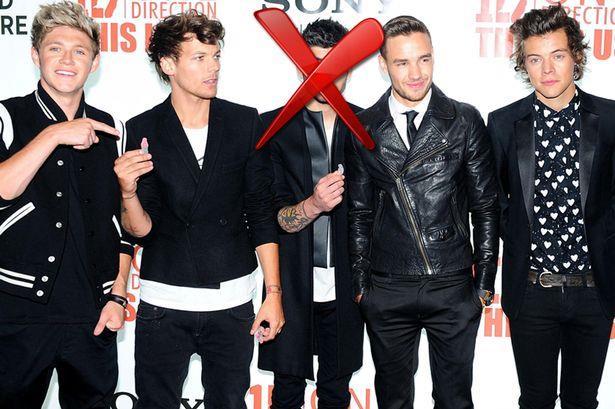 Gli One Direction in 5, ma con una croce su Zayn Malik
