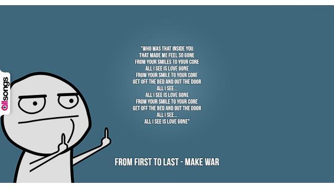 From First To Last: le migliori frasi dei testi delle canzoni