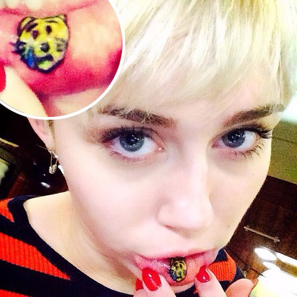 Tatuaggio gattino di Miley Cyrus
