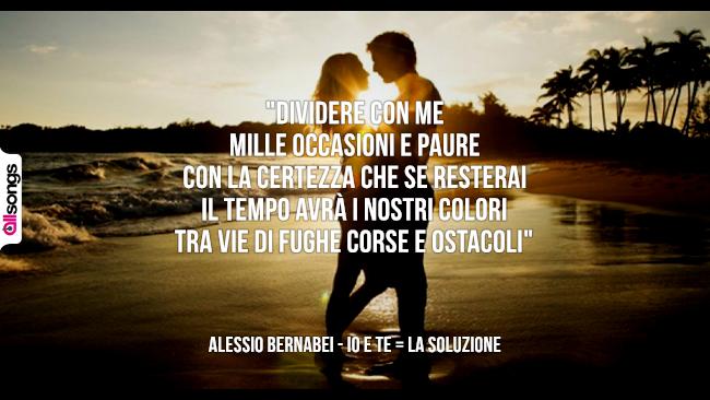 Alessio Bernabei: le migliori frasi dei testi delle canzoni