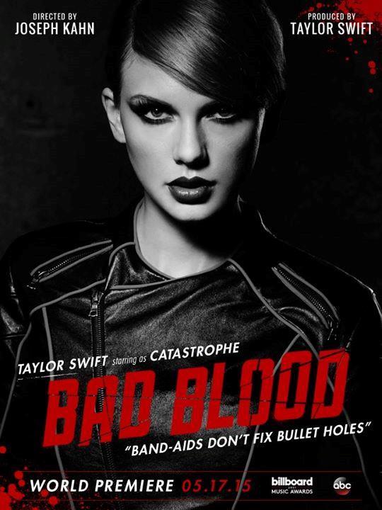 La locandina per Bad Blood con Taylor Swift