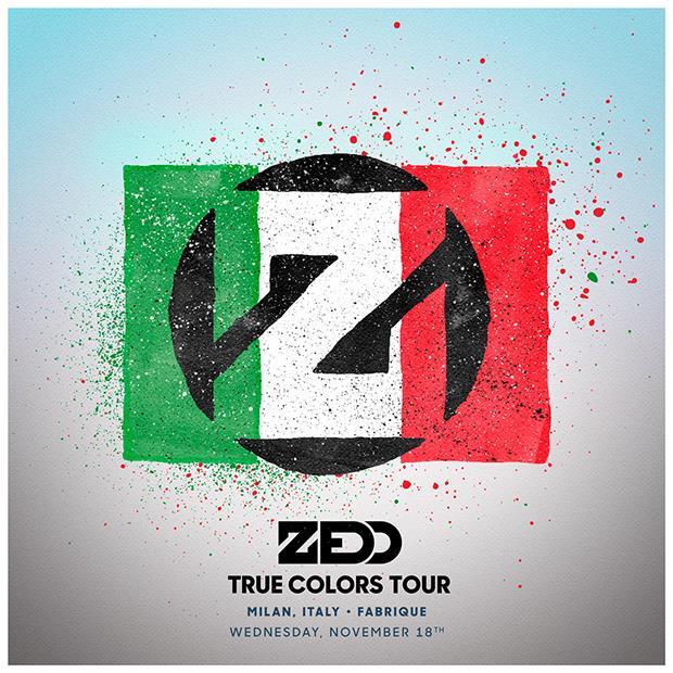 Zedd al Fabrique di Milano il 18 novembre 2015 per il True Colors Tour