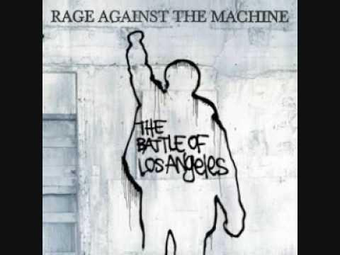 La copertina di un album dei Rage against the machine