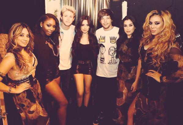 Niall Horan, Louis Tomlinson e le Fifth Harmony