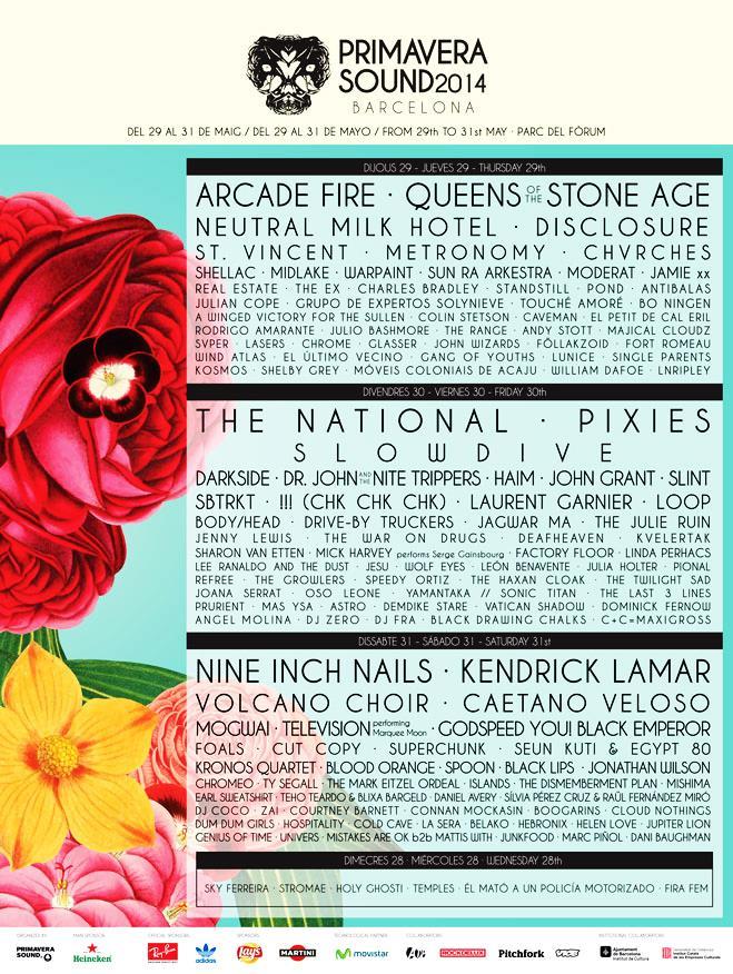Tutti i nomi del Festival Primavera Sound 2014