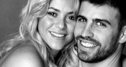 Primo piano di Shakira e Gerard Piquè