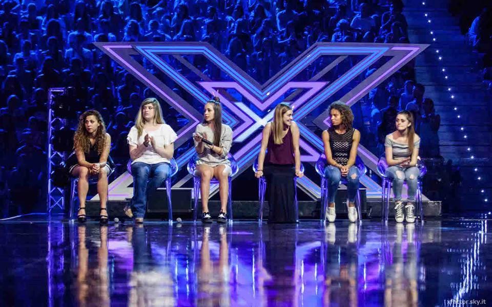 Le 6 concorrenti della squadra di Skin (Under donna) a X Factor 9