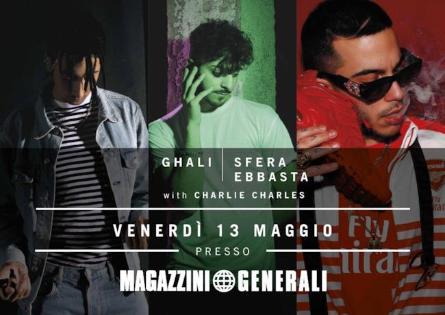 sfera ebbasta ghali charlie charles Milano