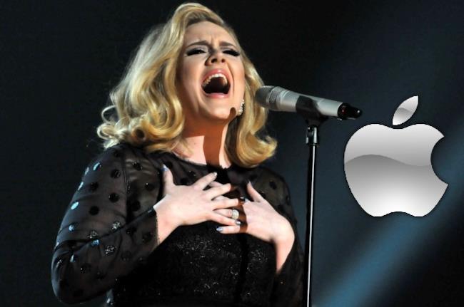 Adele con la sponsorship Apple