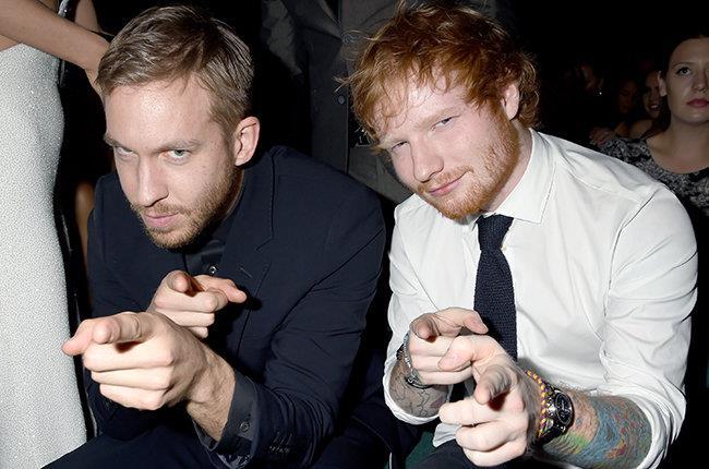 Ed Sheeran e Calvin Harris fotografati insieme vicino a Taylor Swift