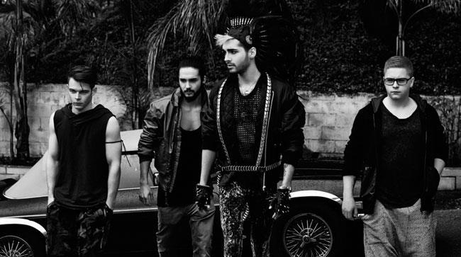 I quattro componenti dei Tokio Hotel