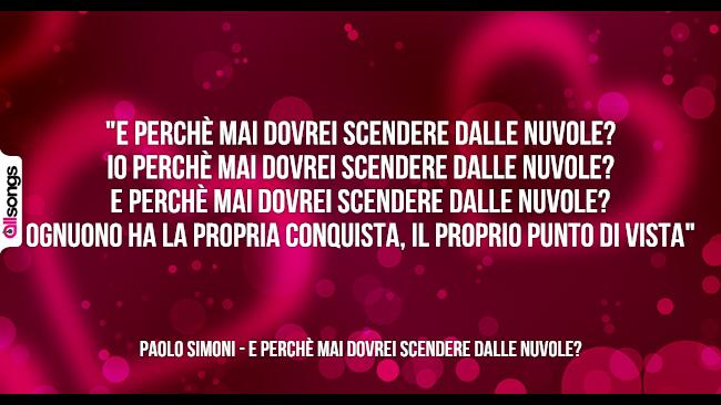 Paolo Simoni: le migliori frasi dei testi delle canzoni
