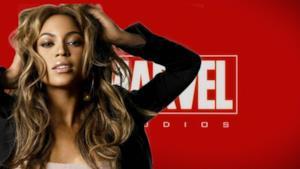 Beyoncé fotomontaggio supereroe Marvel