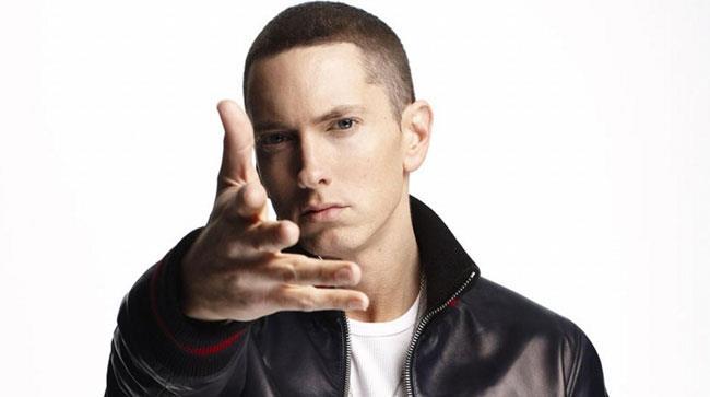 Primo piano di Eminem