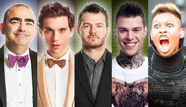 Elio, Fedez, Mika e Skin
