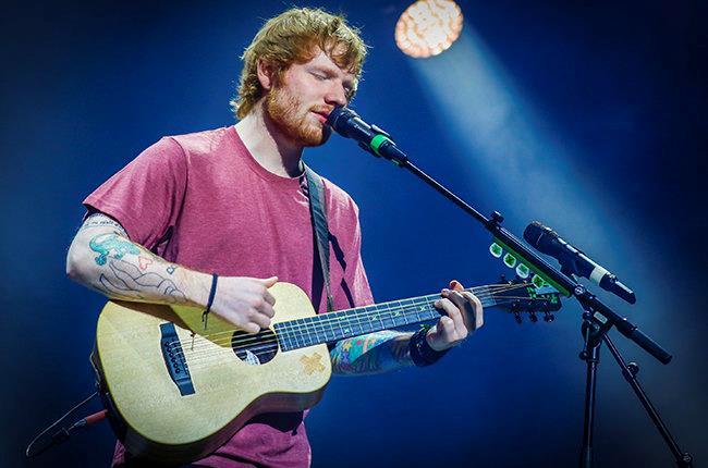 Il cantautore inglese Edward Sheeran