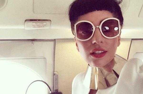 Lady Gaga in aereo