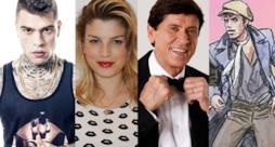 Fedez, Emma Marrone, Gianni Morandi e Adriano Celentano