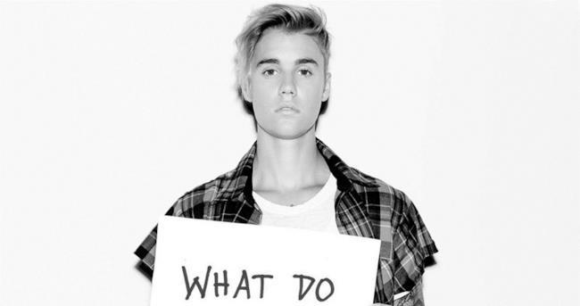 Justin Bieber in bianco e nero