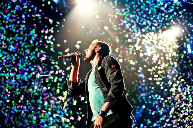 I Coldplay durante un concerto del 2012