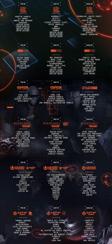 Tutti gli Stage UMF 16
